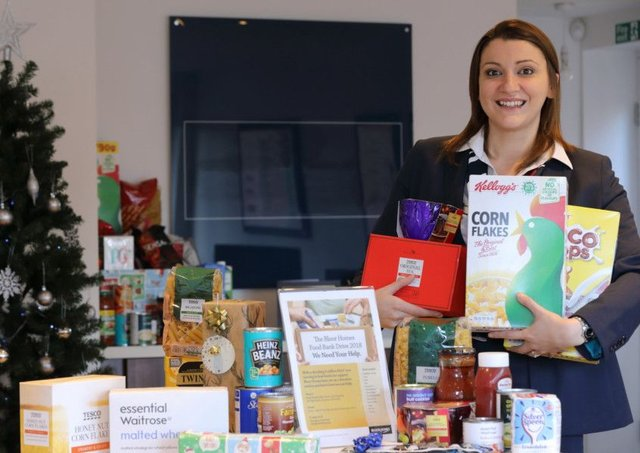 Special Delivery To Bedford Food Bank Thanks To Generous