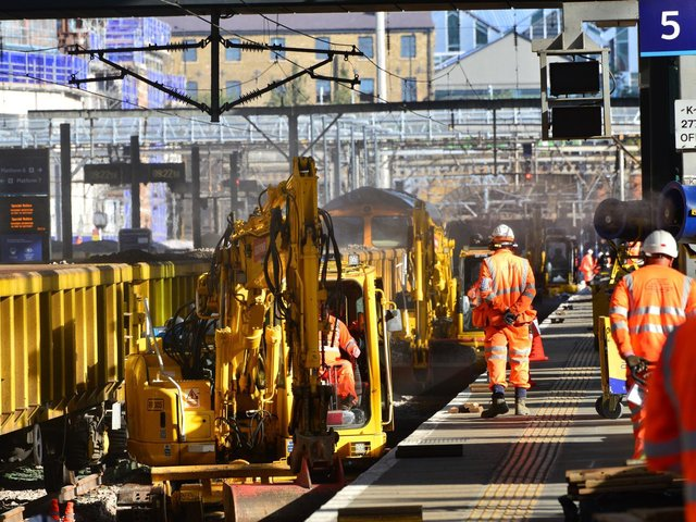 No trains in or out of London King's Cross Station on October weekend as Network Rail makes progress on £1.2billion East Coast Upgrade (C) Network Rail