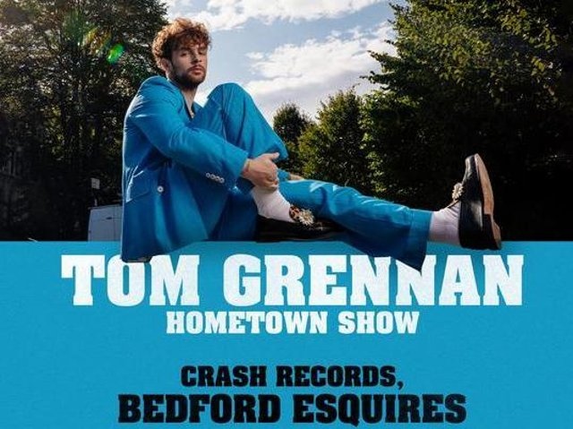 Tom Grennan will return to Bedford for hometown performances in August.