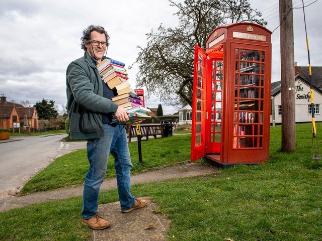 A book exchange is a popular way to repurpose an old phone box