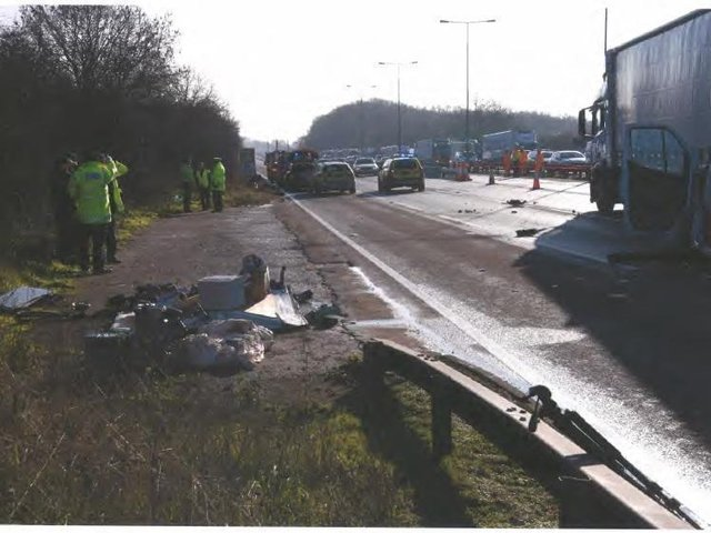 Konrad Biadun drove away from the scene of a fatal car crash he caused when he stopped on the M1 for seemingly no reason