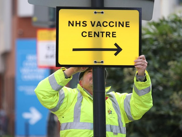 Nearly half of people in Bedford have received their first dose of a Covid-19 vaccine