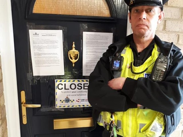 Police issue a closure order as part of the month of action