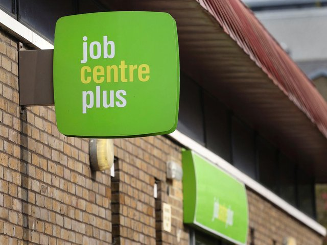 Office for National Statistics data shows 7,355 people were claiming out-of-work benefits as of mid-February, up from 6,850 in January