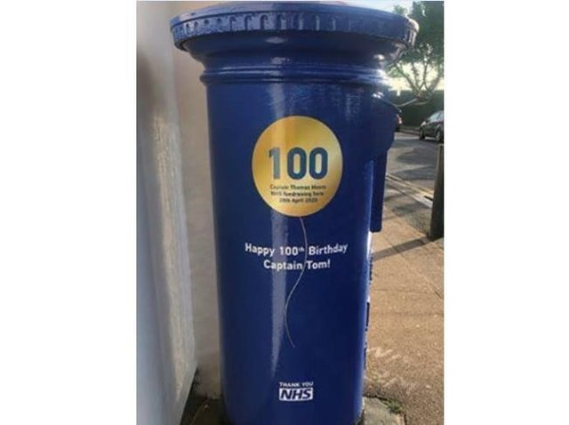 Royal Mail celebrates Captain Tom Moore's birthday with special postbox
