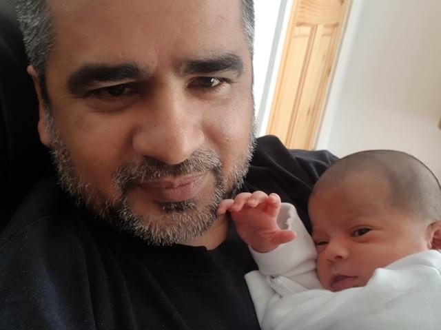 Dr Muhammad Masroor Amjad, with daughterAhdiya Ali
