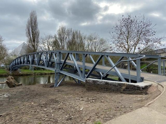 The refurbished bridge