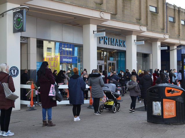 Primark opened at 8am to cope with the anticipation demand which continued all day