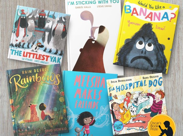 Rain Before Rainbows by David Litchfield and Smriti Halls, bottom left, is one of the books shortlisted