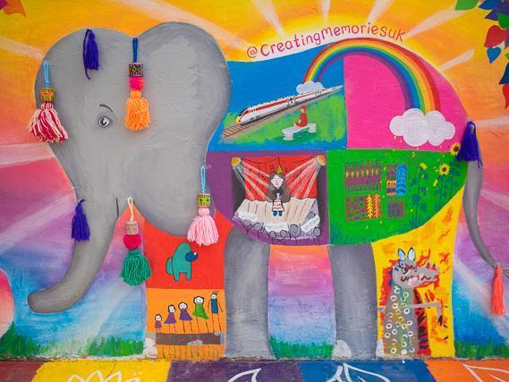 The mural at Creating Memories