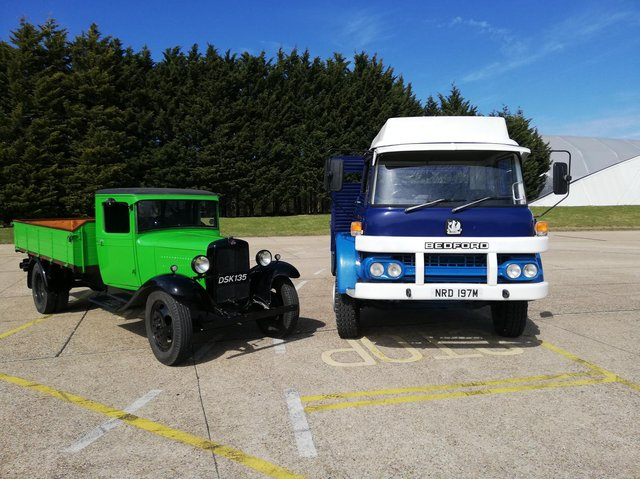 The Bedford vehicles at Millbrook