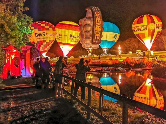 The dazzling night glow display at dusk, which will be accompanied by the Ibiza Classics Orchestra