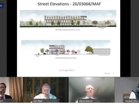 The committee was shown drawings of the new building