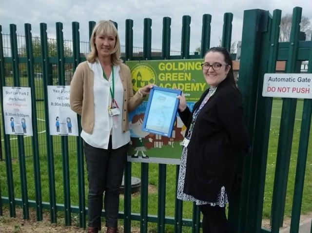 Caroline Skingsley, Headteacher at Goldington Green Academy, and Jade Harrison, Active Travel Coordinator and PSHE lead