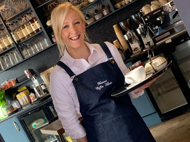 Xanthe Jackson has taken over the management of Bedford's Frescoes Coffee House