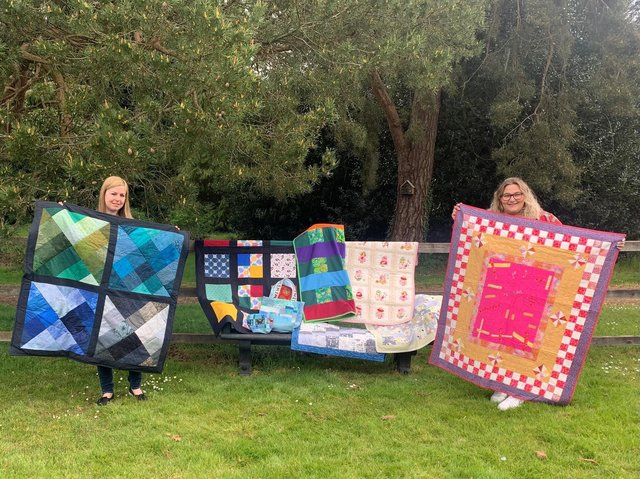 Just some of the handmade blankets and quilts which are being gifted to sick, vulnerable or traumatised children