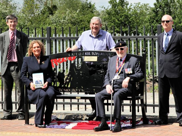 The event was attended by representatives from the Community Rail Partnership, Marston Moretaine Parish Council, the Royal British Legion, the Friends of Millbrook Station, the Bedford to Bletchley Rail Users' Association - and Captain Tom's daughter, Hannah Ingram-Moore