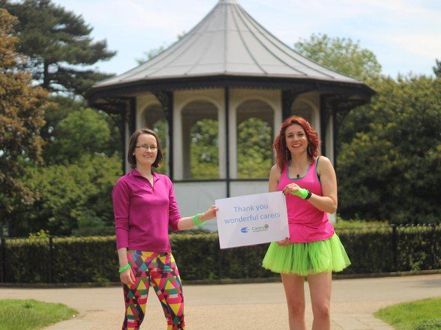 From left, fundraising manager Jolene Retallick and operations manager Harriet Opalinski