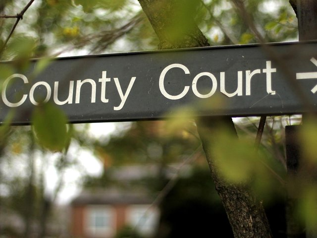 Between January and March, 560 small claims were heard at Bedford County Court