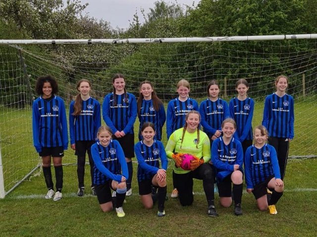 Bedford Girls Under 13s won the Division 1 title