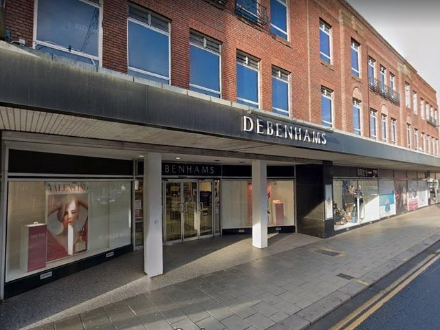Debenhams in Bedford which closed earlier this year (Google)