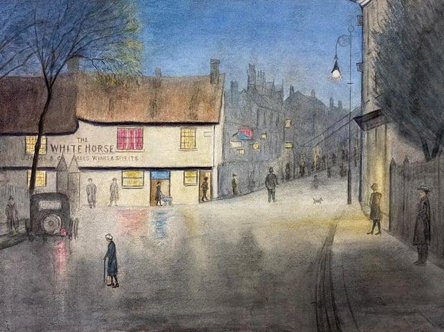 John Ross Cormack (1871-1949), The White Horse, Harpur Street, 1922-1929