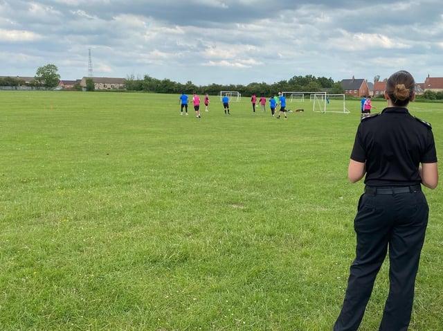 Inspector Sam Hunt organises the football matches