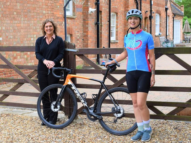Hannah Ingram-Moore, Captain Sir Tom's daughter, launches the Willen Hospice Captain Tom Cycle 100
