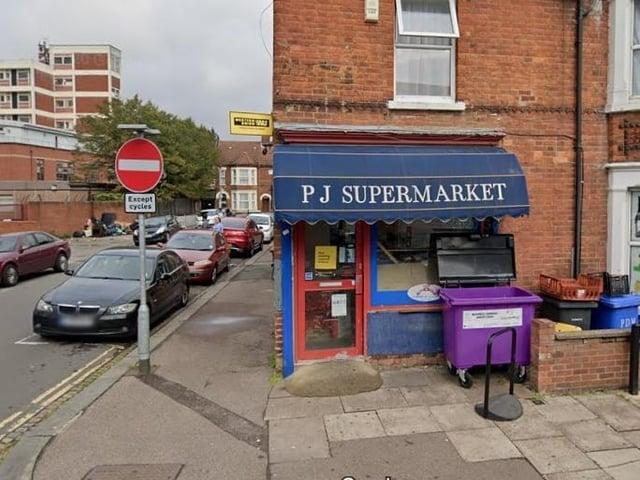 PJ Supermarket in Bedford (Google)