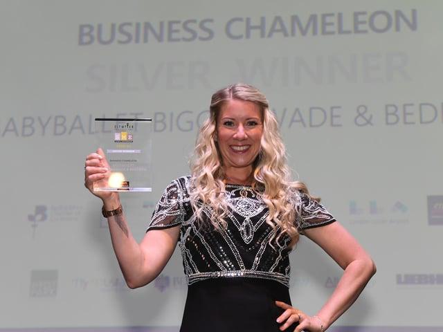 Lauren Shepherd with the award