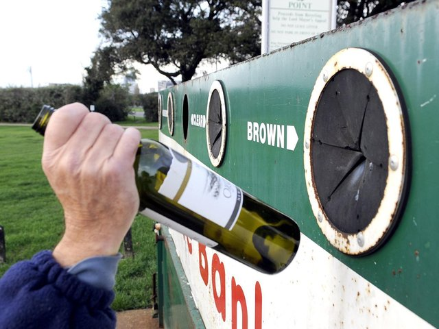 Bedford Borough Council is collecting from some bottle banks three times a week